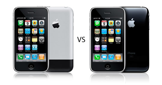 Apple iPhone 2G VS iPhone 3G