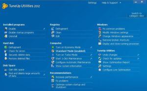 TuneUp Utilities 2012 Functions