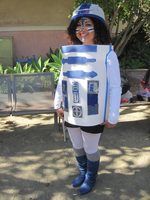R2D2 Costume won costume contest for tiana martin
