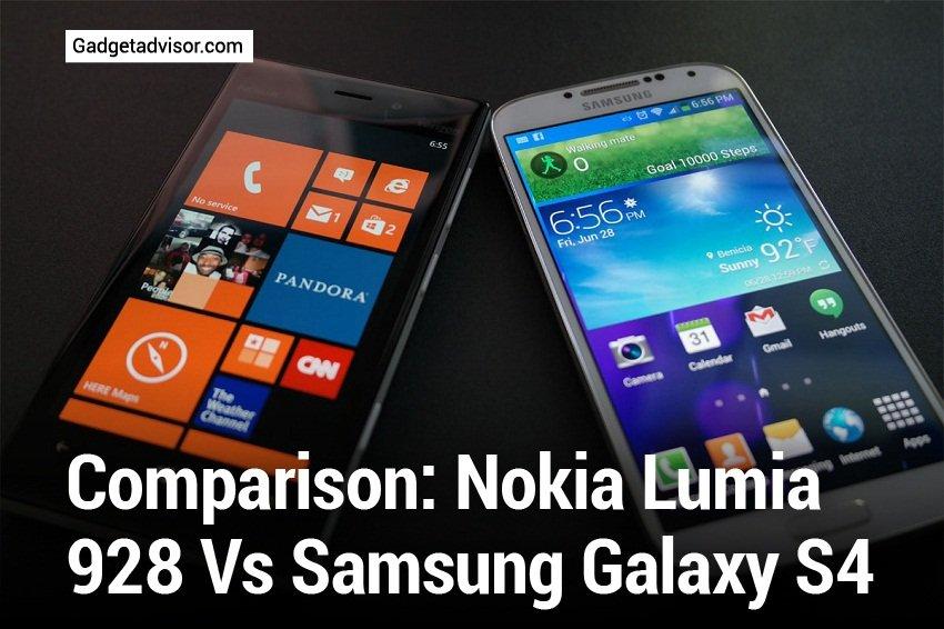 Comparison Nokia Lumia 928 vs Samsung Galaxy S4