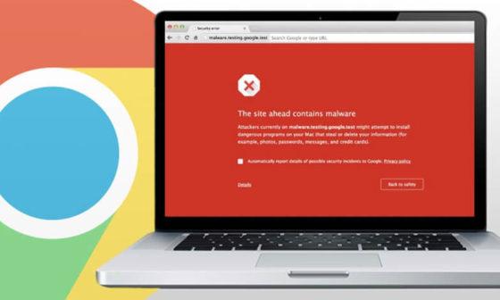 Google Chrome Malware Warning