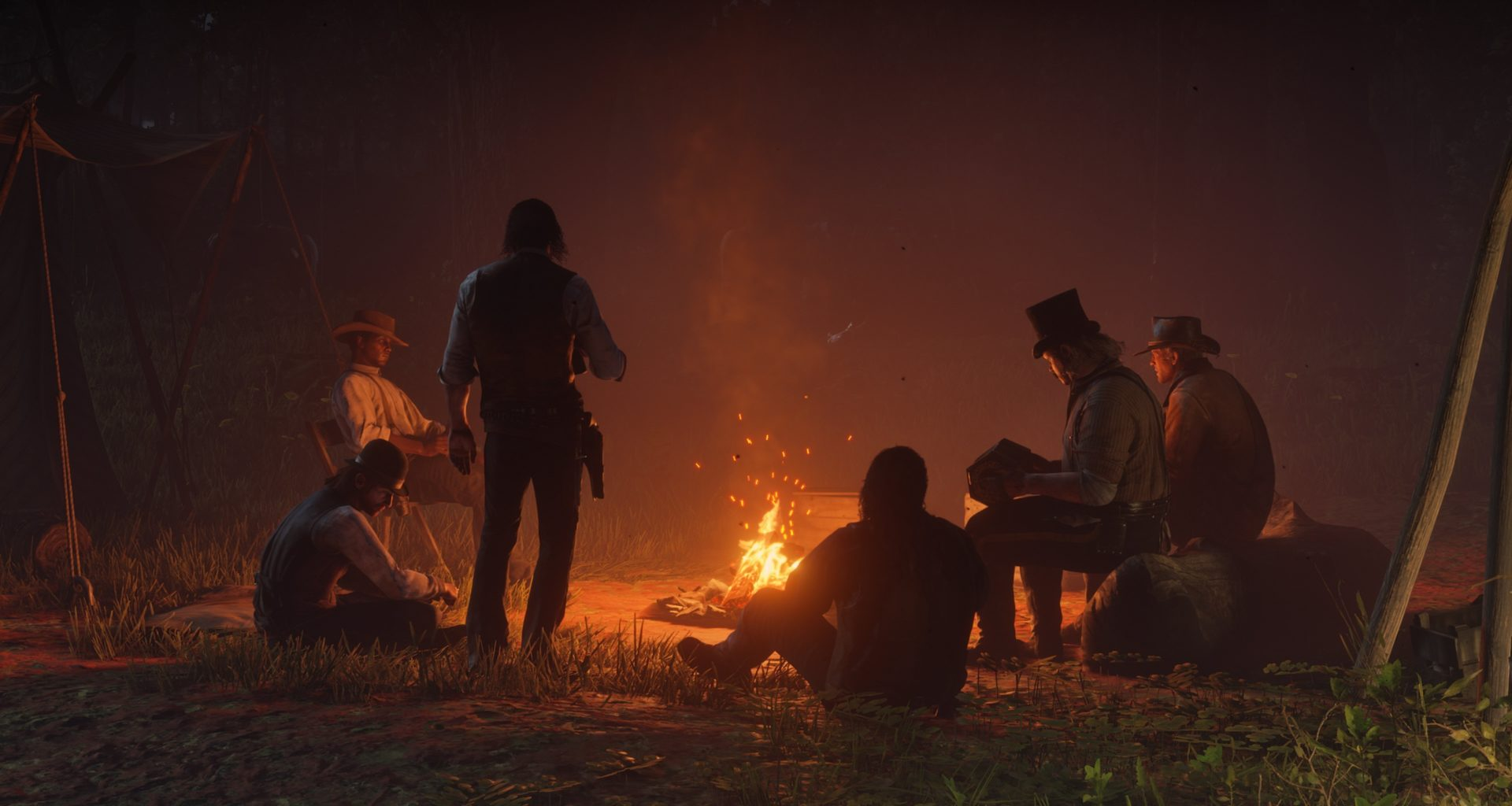 Red Dead Redemption 2 fire