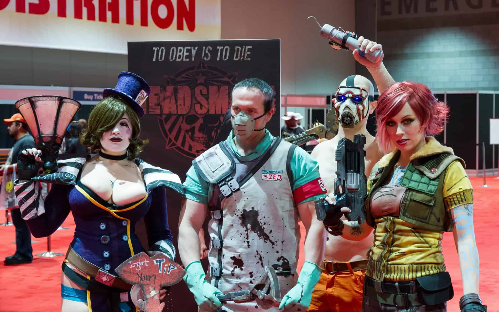 Four Borderlands 2 cosplayers at C2E2 2013