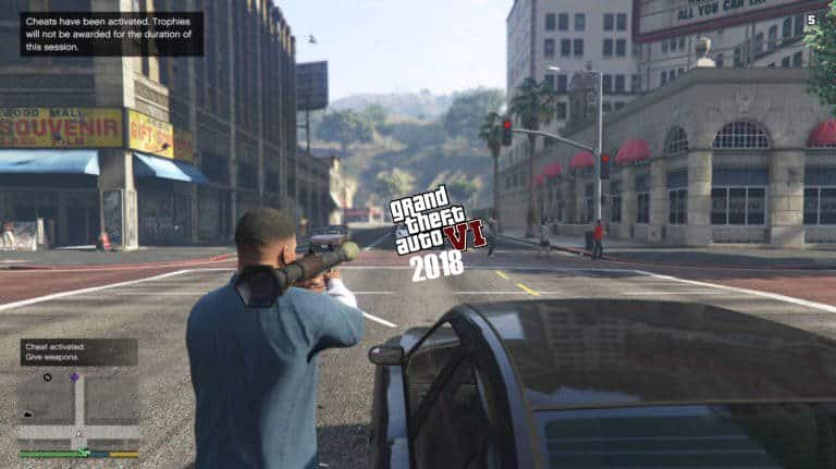 Shooting scene in GTA 5